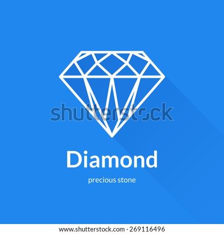 Blue Diamond Shaped Logo Faceted Diamond Shape Logo