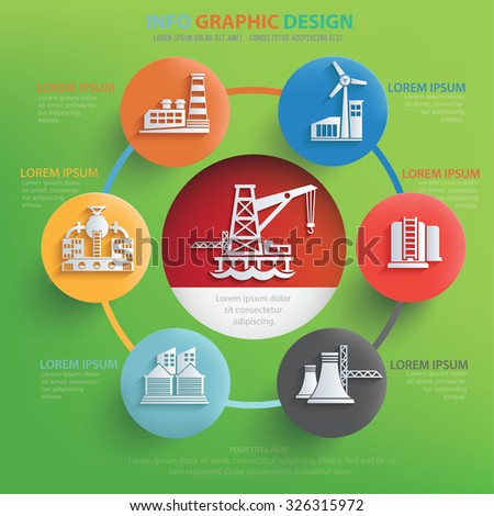 Factory and industry info graphic design,clean vector - stock vector