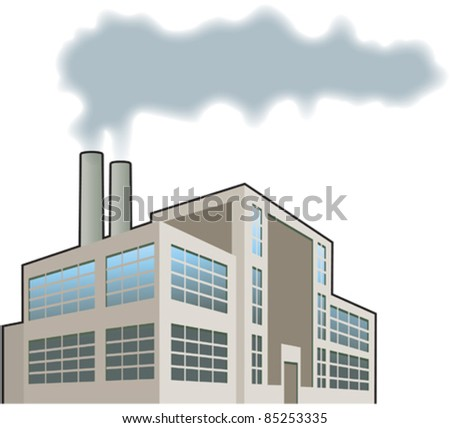 Factory, heavy industry 1 - stock vector