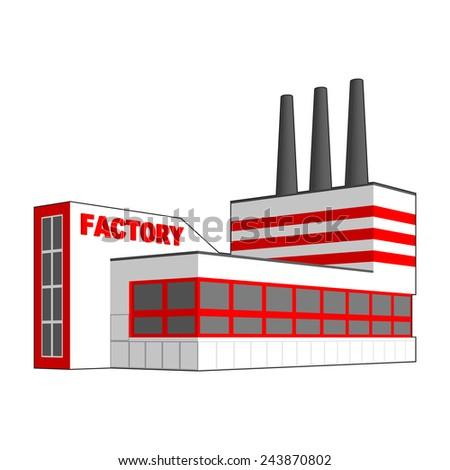 Factory icon. - stock vector