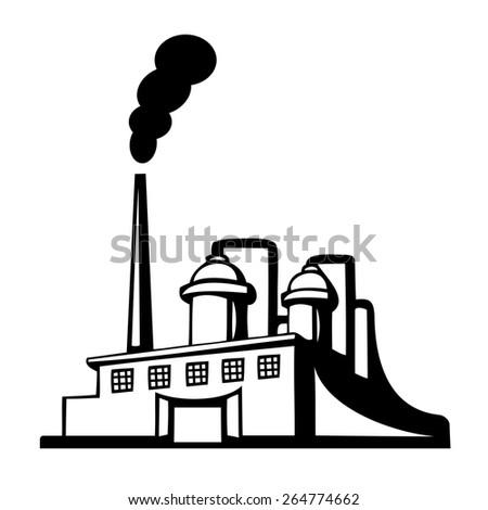 Factory icon - stock vector