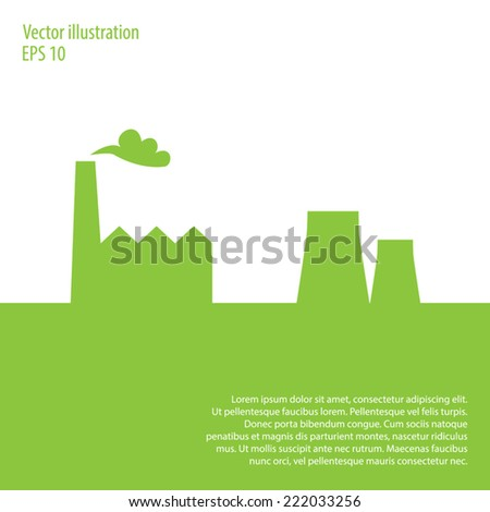 Factory vector background