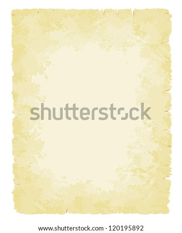 Faded and warn old paper background vector illustration - stock vector