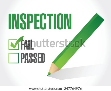 fail inspection check list illustration design over a white background - stock vector