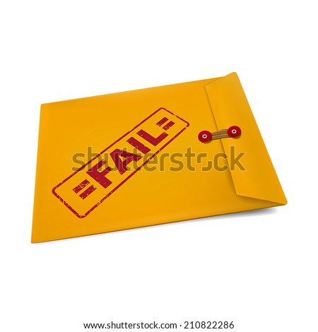 fail stamp on manila envelope isolated on white - stock vector