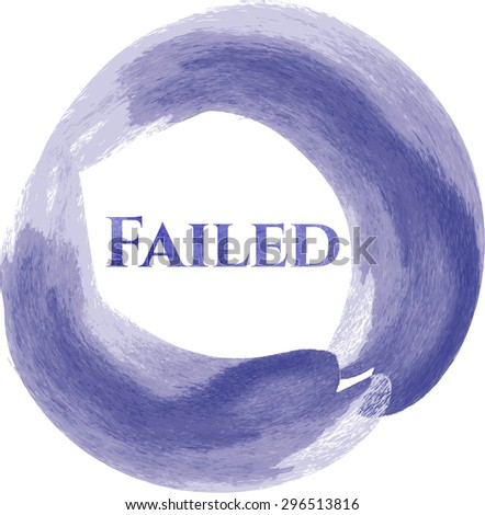 Failed aquarelle background - stock vector