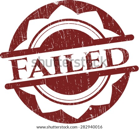 Failed red rubber stamp - stock vector