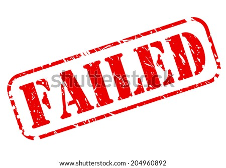 FAILED red stamp text on white - stock vector