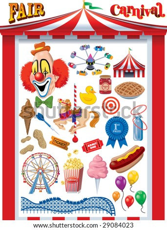 Fair/Carnival Vector Graphics - stock vector