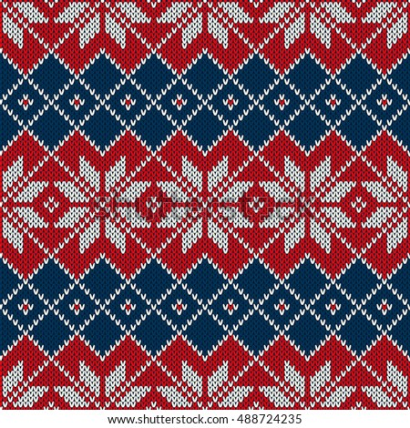 Fair Isle Style Christmas Knitted Sweater Stock Vector 488724235 ...