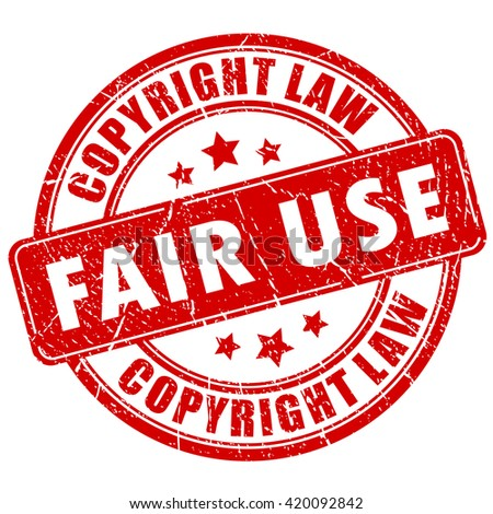 Fair use copyright rubber stamp isolated on white background - stock vector