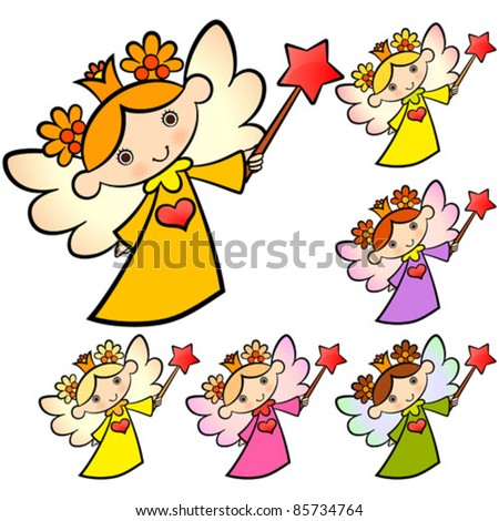 fairy angel - stock vector