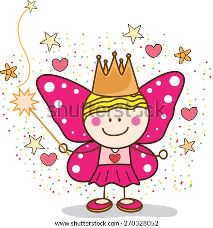 Fairy girl - stock vector