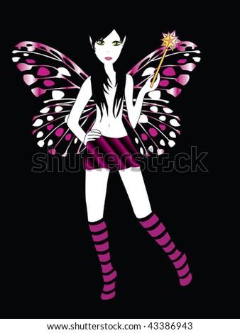 fairy vector - stock vector