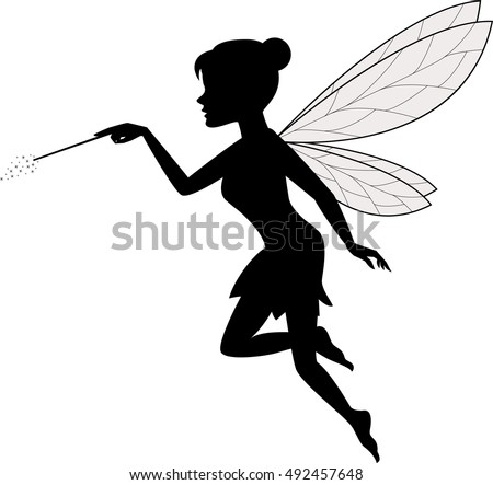 fairy waving her wand stock vector 2018 492457648 shutterstock rh shutterstock com ferry victoria to seattle ferry victoria to vancouver