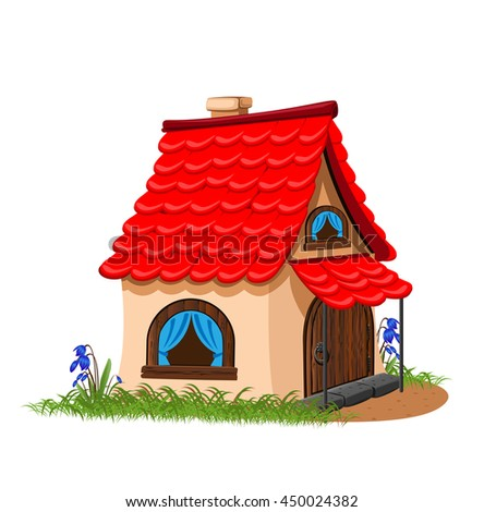 fairytale house with red tiled roof