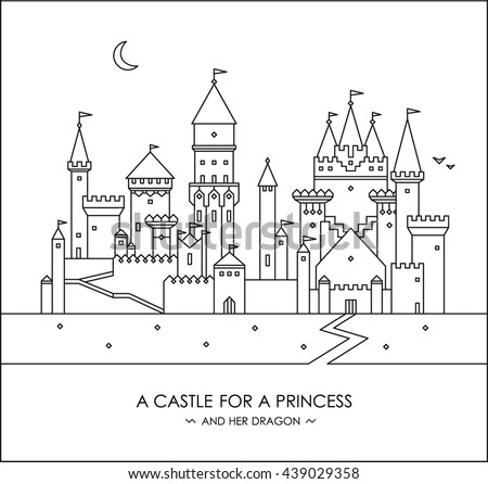 Fairytale Story For Kids Girls Magic Castle With Princess Prince Coloring