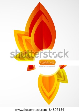 Fall background - stock vector