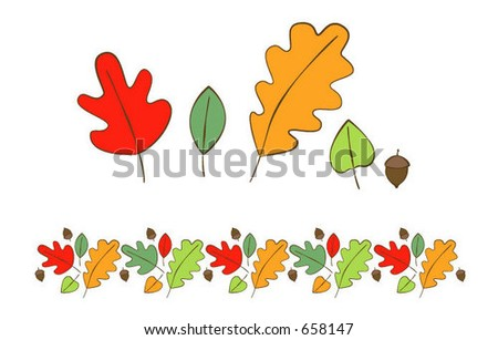 fall leaves and boarder