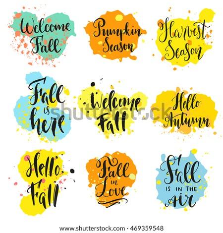 fall theme sayings modern calligraphy style stock photo photo rh shutterstock com