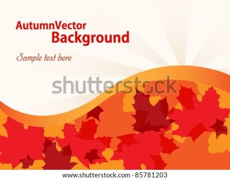 Fall vector background - stock vector