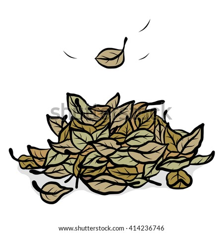 fallen leaves / cartoon vector and illustration, hand drawn style, isolated on white background. - stock vector