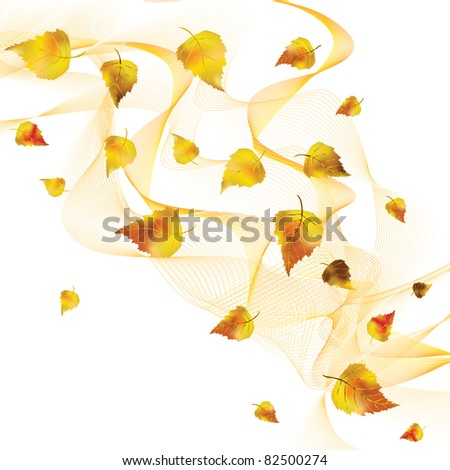 Falling autumn leaves. Vector illustration