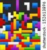 Falling down color blocks - stock vector
