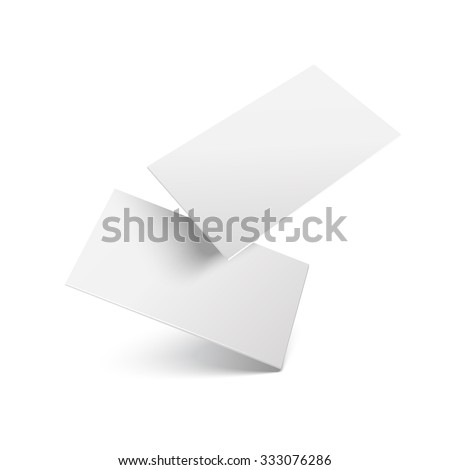 Falling realistic business cards template. Vector illustration. - stock vector