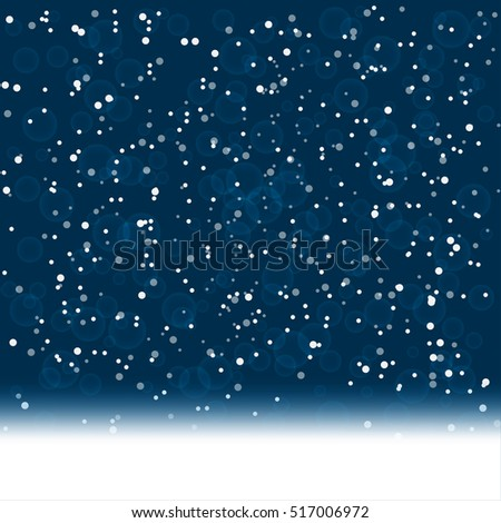 Falling snow background. vector illustration
