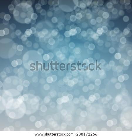 Falling Snow. Merry Christmas Defocused Background - stock vector