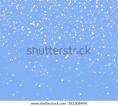 Falling Snow Vector Background