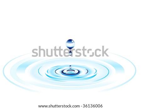 falling water drop background design - stock vector