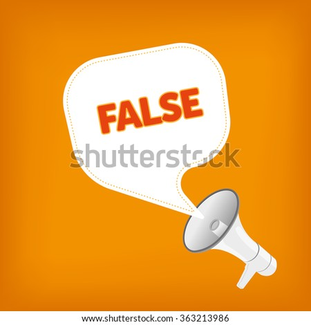 FALSE - stock vector