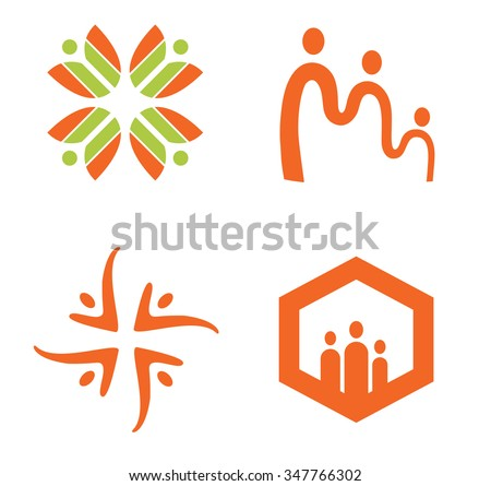 Family and social vector design template