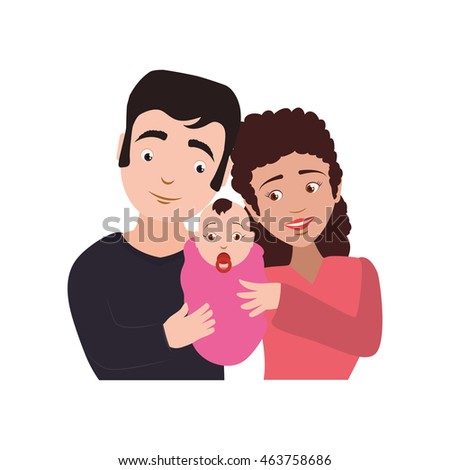 family baby couple parents mothers father icon. Isolated and flat illustration. Vector graphic