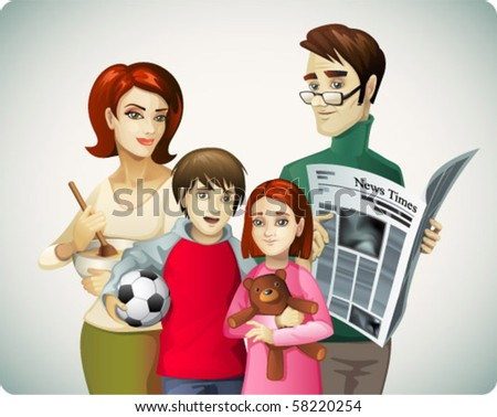 Family background - stock vector