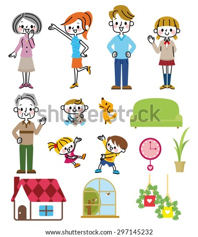 Family collection - stock vector