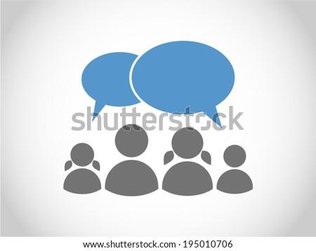 Family communication - stock vector