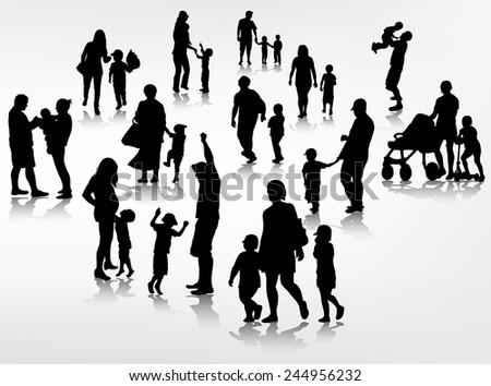 family concept illustration - stock vector