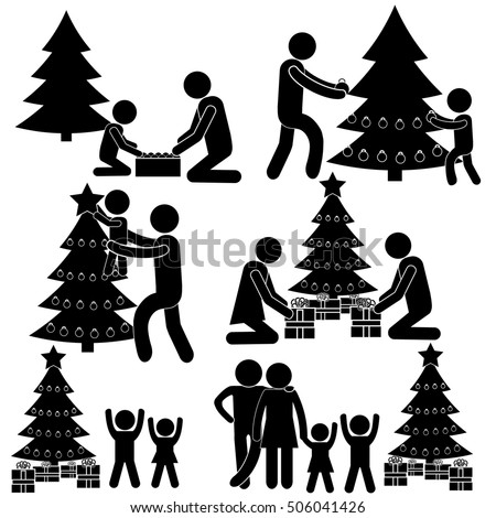 Black People Decorating For Christmas decorating stock photos, royalty-free images & vectors - shutterstock