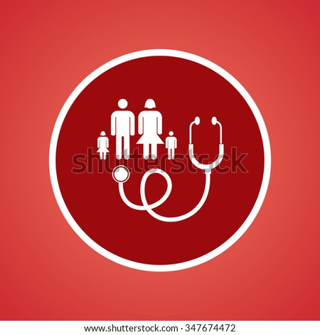 Family Doctor Icon - stock vector
