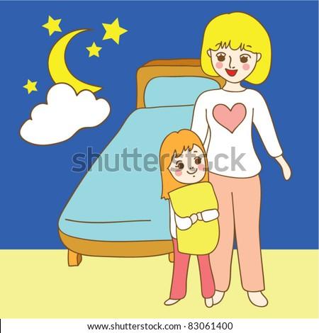 family good night sleep stock vector 83061400 - shutterstock