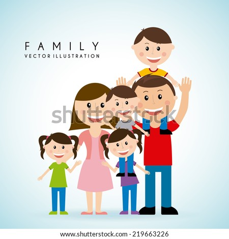 family graphic design , vector illustration