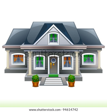 Family House - stock vector