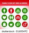 Family Icon Set - stock vector