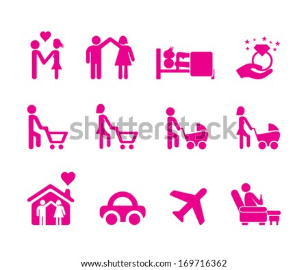 Family Icons 3. - stock vector
