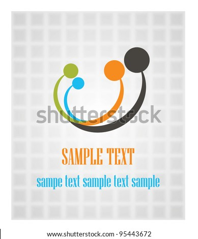 family  icons background - stock vector