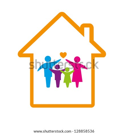 Family logo concept. - stock vector