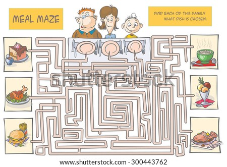 Family Meal maze. All object are in separated layers.